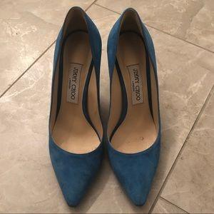 Jimmy Choo blue heels